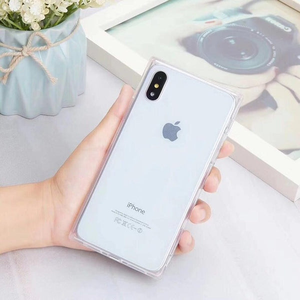 2018 Fashion Phone Case For iPhone X 6 6S 7 8 XS Max XR Plus 7Plus 8Plus Cases Silicone Tpu Soft Luxury Transparent Cover Coque