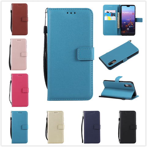 Leather Phone Case For Huawei P20 Pro P8 P9 P10 Lite Honor 5X 6C 6X 8 10 Mate 7 8 9 10 Lite Nova 2i P Smart Card Holder Cover
