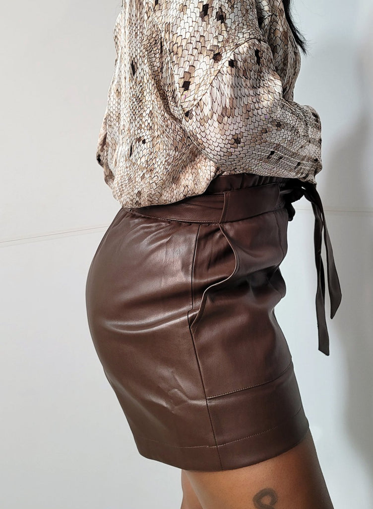 Make It Look Hot Faux Leather Shorts - Mod Instinct