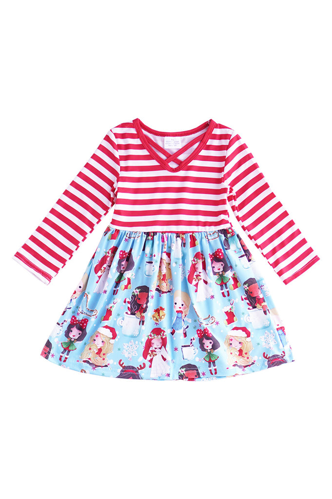 Red stripe angel princess dress CXQZ-202076