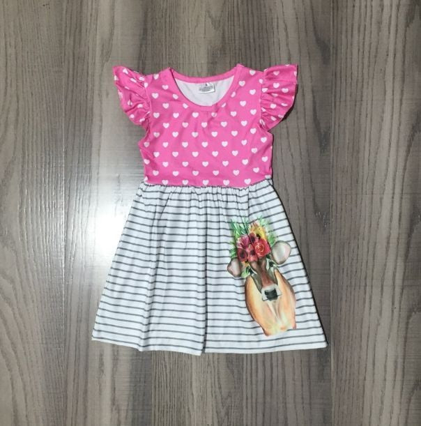 Pink Bunny Easter Plaid Lace Dress  CXQZ-400647
