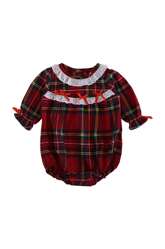 Red/green plaid christmas baby bubble romper 900054 sale