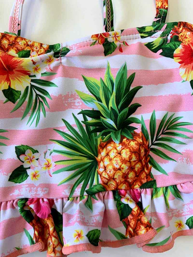 Pineapple print tankini swimsuit YY-900905