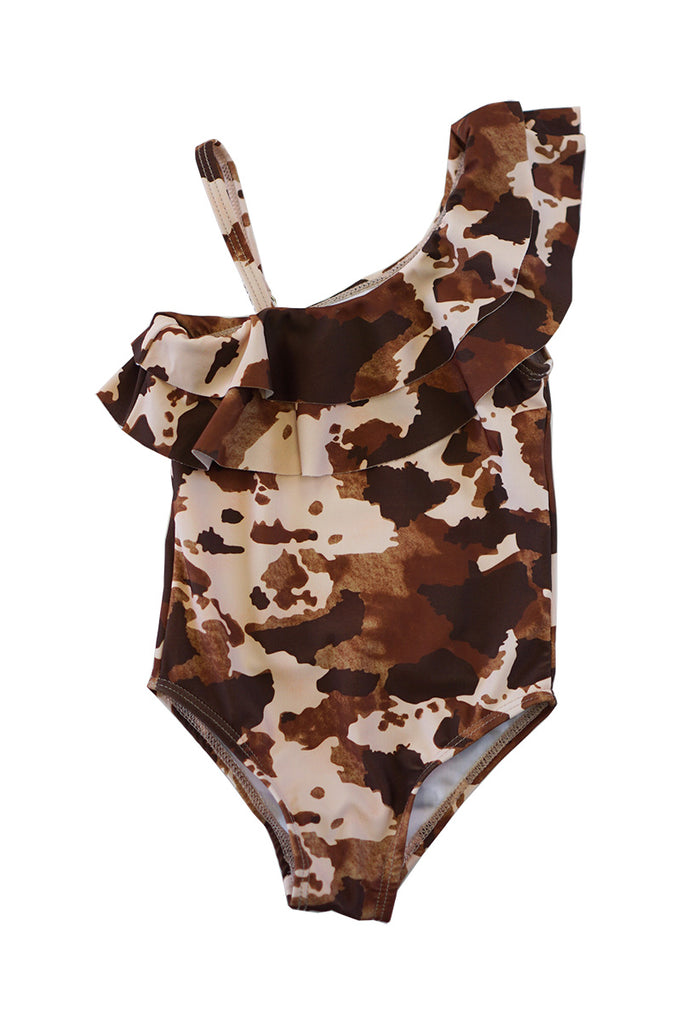 Camoflage off shoulder swimsuit XH-YY-950136