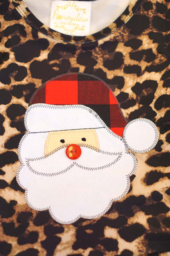 Leopard santa top with pants set CXCKTZ-900641