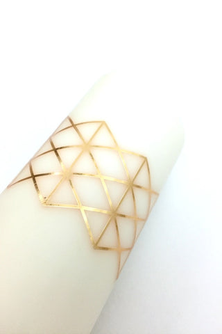 Geometric Metallic Candle