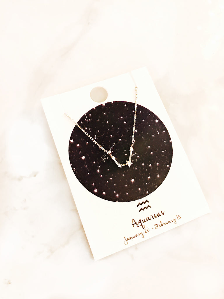 Zodiac Sign Necklace: Aquarius