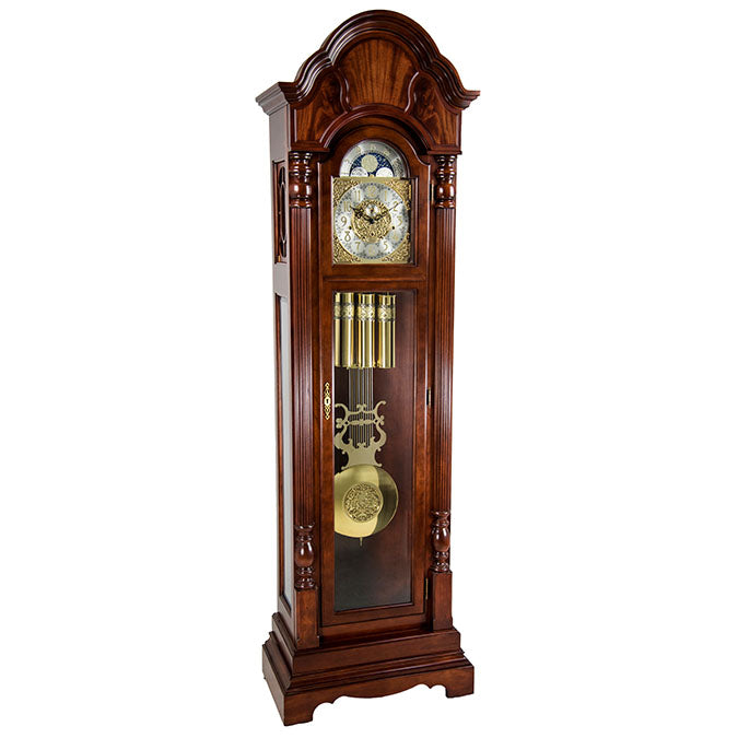 Hermle Brookfield Grandfather Clock Cherry Finish