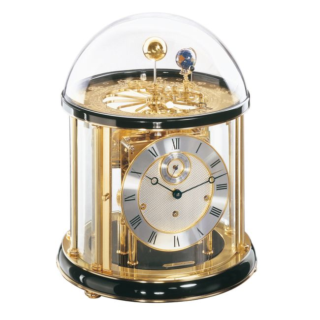 Hermle Tellurium Mantel Clock Black Finish