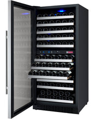 Allavino FlexCount Series 121 Bottle Dual Zone Wine Refrigerator with Left Hinge