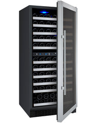 Allavino FlexCount Series 121 Bottle Dual Zone Wine Refrigerator with Right Hinge