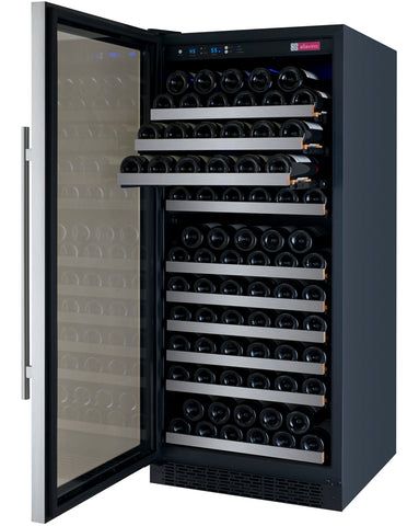 Allavino FlexCount Series 128 Bottle Single Zone Wine Refrigerator with Left Hinge VSWR128-1SSLN - Swings and More