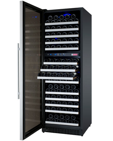 Allavino FlexCount Series 172 Bottle Dual Zone Wine Refrigerator with Left Hinge - Swings and More