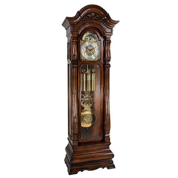 Hermle Salerno Grandfather Clock Walnut Finish
