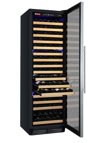 Allavino FlexCount Classic Series 172 Bottle Dual Zone Wine Refrigerator - Right Hinge Stainless Steel Door - Swings and More