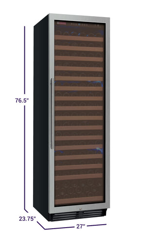 Allavino FlexCount Classic Series 174 Bottle Single Zone Wine Refrigerator - Right Hinge - Swings and More