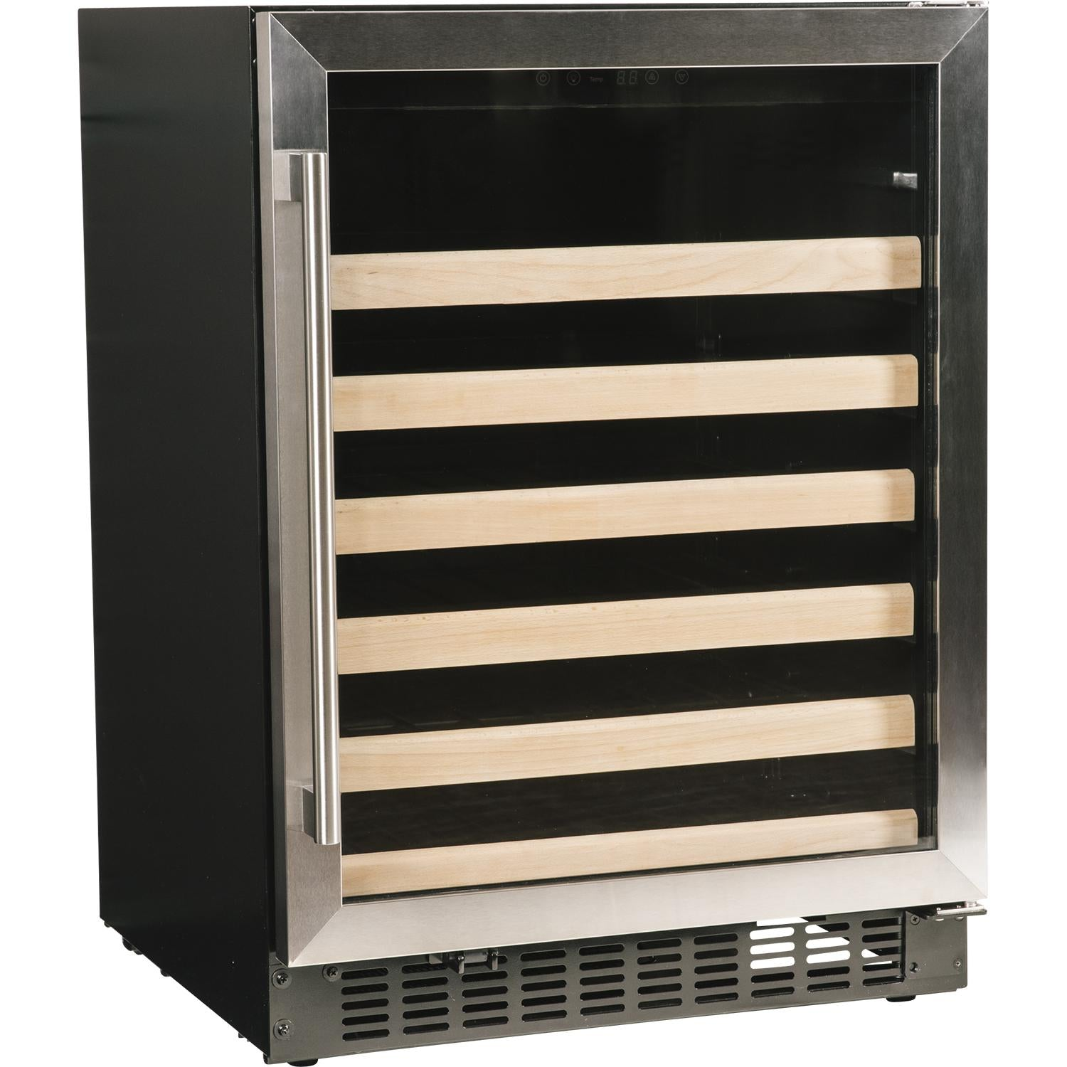 "Azure 24"" 48-Bottle Stainless Steel Single Zone Wine Cooler A124WC-S - Swings and More"