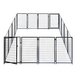 Heavy Duty Dog Kennel Playpen - 16 Panel - 4 x 2.5 Feet - Swings and More