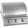 Image of Blaze 25 Inch 3-Burner Built-In Natural Gas Grill - Swings and More