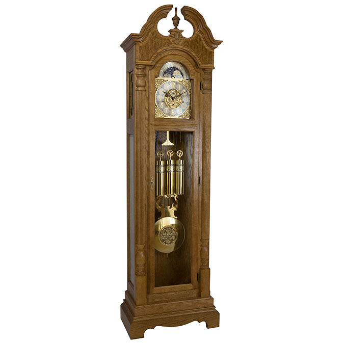 Hermle Blakely Grandfather Clock Dark Oak