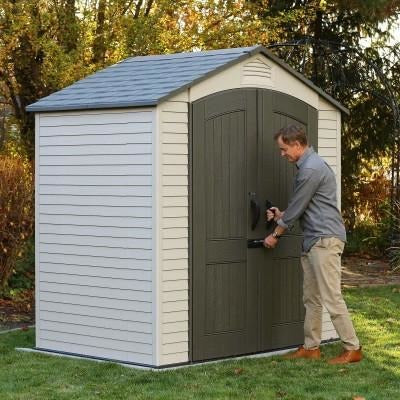 Lifetime 7 X 4.5 ft Outdoor Storage Shed - Swings and More