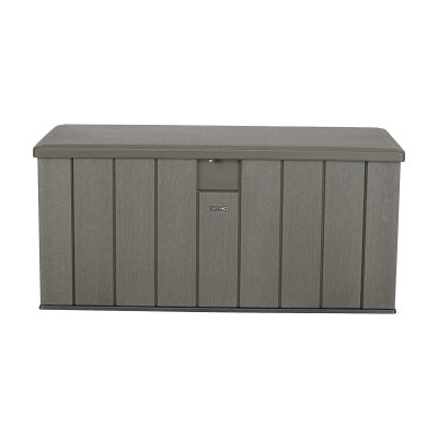 Lifetime 150 Gallon Rough Cut Woodgrain Texture Outdoor Storage Box    Swings And More ...