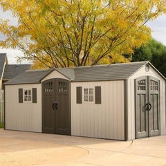 Lifetime 20 X 8 Outdoor Storage Shed (2 Windows)