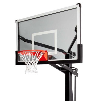 Lifetime In-Ground Mammoth 60 in. Glass Outdoor Basketball Hoop - Swings and More