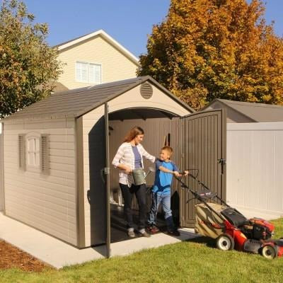 Lifetime 8 X 10 ft. Outdoor Storage Shed - Swings and More