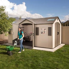 Lifetime 15 X 8 ft. Outdoor Storage Shed (Dual Entry)