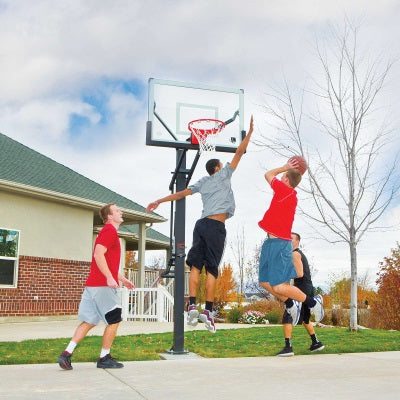 Lifetime In-Ground Mammoth 54 in. Glass Basketball Hoop - Swings and More