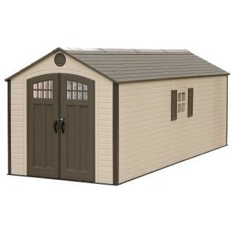 Lifetime 8 X 20 ft. Storage Shed (With 2 Windows) - Swings and More