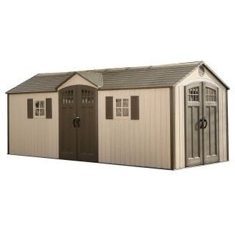 Lifetime 20 X 8 Outdoor Storage Shed (2 Windows) - Swings and More