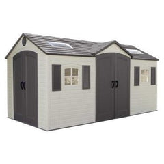 Lifetime 15 X 8 ft. Outdoor Storage Shed (Dual Entry) - Swings and More