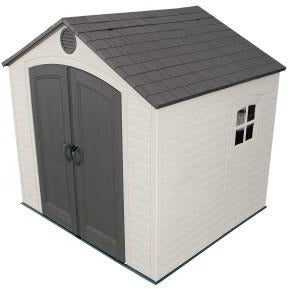 Lifetime 8 X 7.5 ft. Outdoor Storage Shed - Swings and More