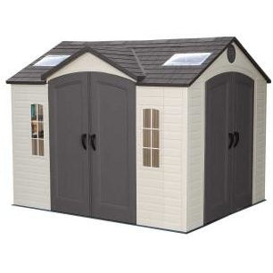 Lifetime 10 X 8 ft. Outdoor Storage Shed With Double Doors Front and Side - Swings and More