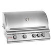 Image of Blaze 32 Inch 4-Burner Built-In Natural Gas Grill With Rear Infrared Burner - Swings and More