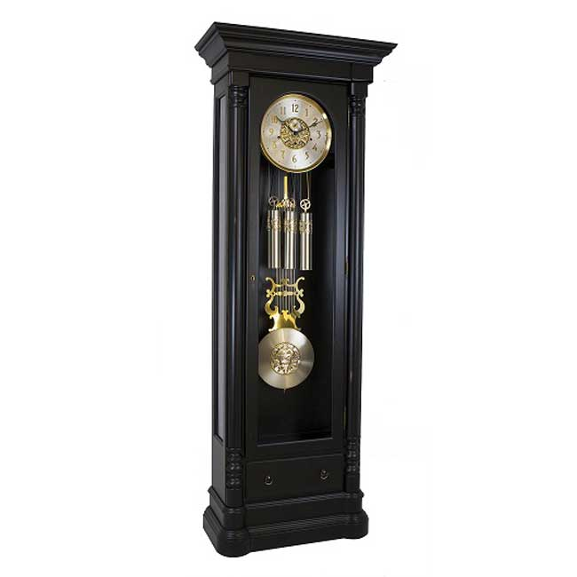 Hermle Nicolette Grandfather Clock Black Finish