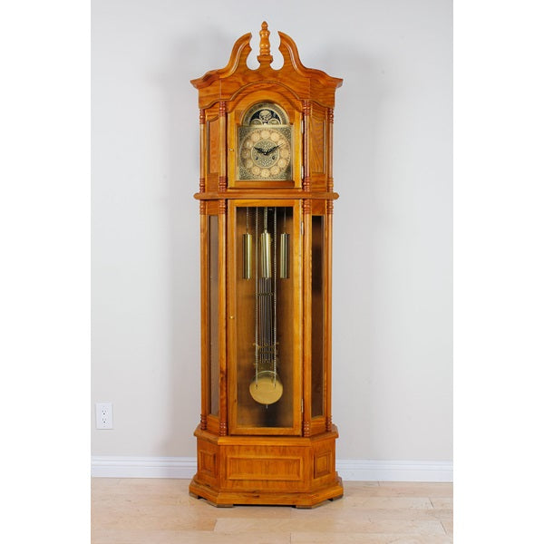 Acme Furniture Filmour Grandfather Clock Oak