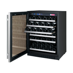 Allavino FlexCount Series 56 Bottle Dual Zone Wine Refrigerator with Left Hinge