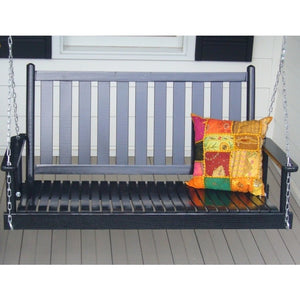 Dixiesaeting Asheboro Porch Swing - 4 ft. Curved Slat Seat - Swings and More