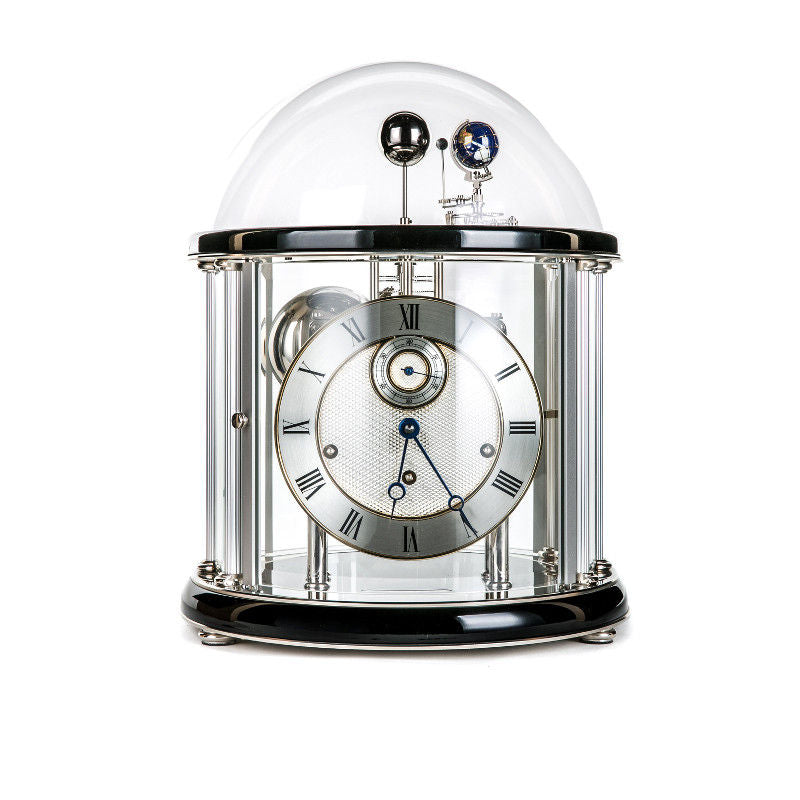Hermle Tellurium II Mantel Clock Black/Nickel Finish