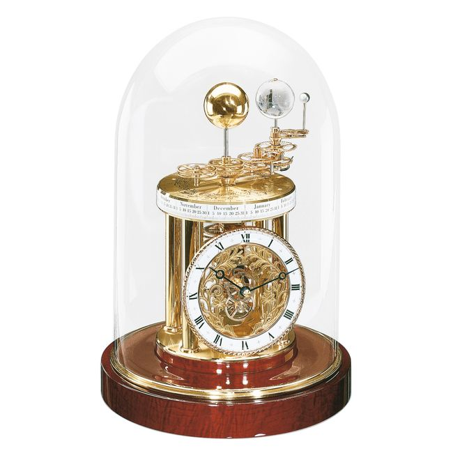 Hermle Astrolabium Mantel Clock Mahogany Base