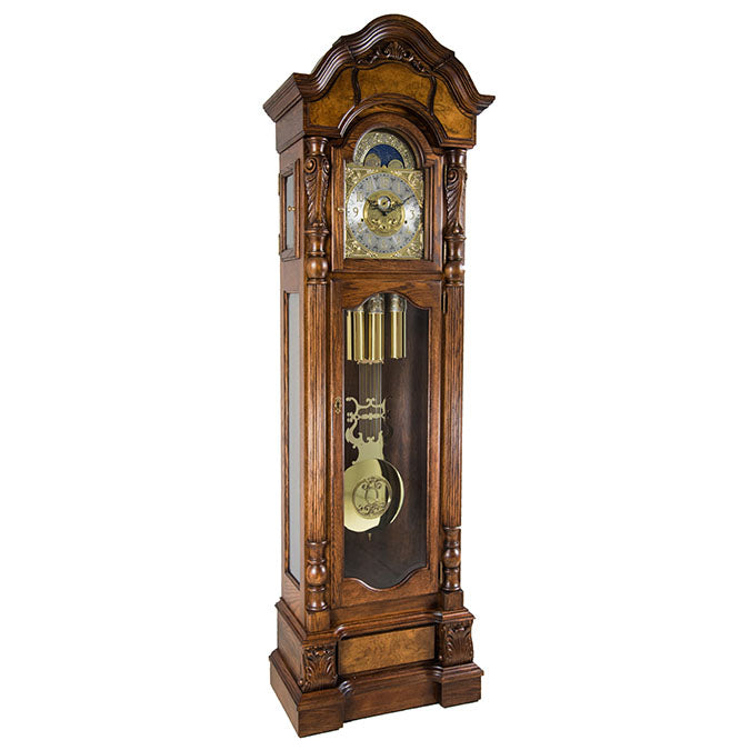 Hermle Anstead Grandfather Clock Dark Oak Finish