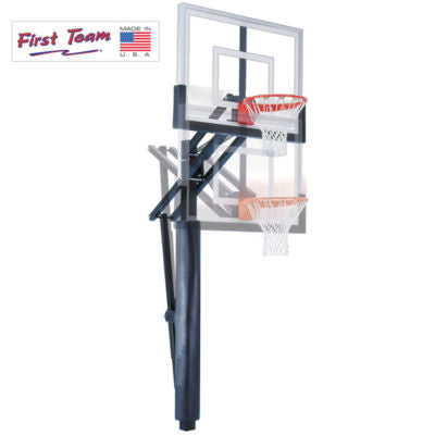 "First Team Slam Eclipse BP In Ground Adjustable Basketball Hoop 36""x60"""