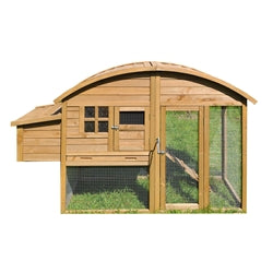 Multi Level Wooden Chicken Coop or Rabbit Hutch with Roof Access - 45.7 x 26.2 x 6.1 Inches - Brown - Swings and More
