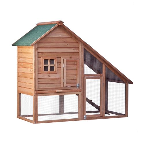 Multi Level Wooden Chicken Coop or Rabbit Hutch - 55 x 26 x 47 Inches - Swings and More