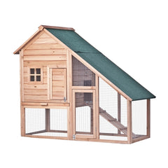 Multi Level Wooden Chicken Coop or Rabbit Hutch - 55 x 26 x 47 Inches