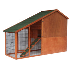 Multi Level Wooden Chicken Coop or Rabbit Hutch - 83 x32 x 57 Inches