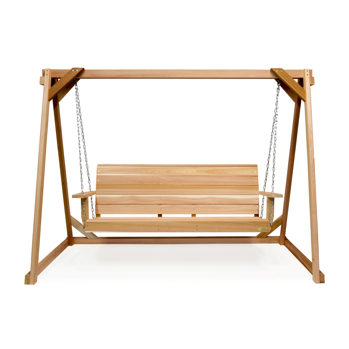 Porch Swing Set 8' Swing A-Frame and 5' Swing Cedar - Swings and More